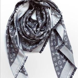 Louis Vuitton Monogram Black Denim Scarf M71378